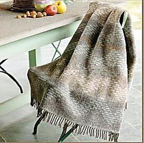 罗LAI家纺 专柜正品 Q560 意大利几何韵律提花羊毛毯 进口羊驼毛