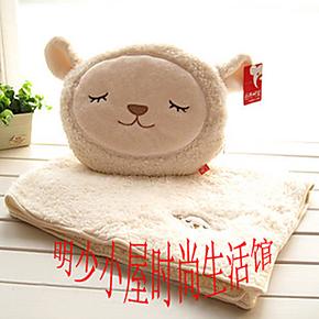 批发价!多利羊 毛毯 羊驼 空调毯 汽车靠垫抱枕 婴儿毯两件套