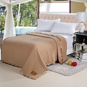 宾馆床上用品酒店100%全羊毛 晴纶毛毯 批发 单双人加厚毛毯特价