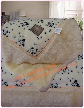 水星家纺毛毯加厚  晴纶毛毯 加大加厚 豪华型拉舍尔毛毯