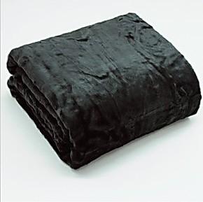 2012日本超柔晴纶毛毯/加厚拉舍尔毯子/黑色/外贸特价