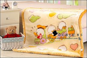 红豆毛毯 正品 婴儿童拉舍尔毛毯 双层加厚 卡通童毯 月子送礼