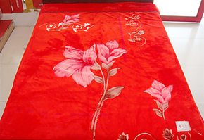 毛毯 红豆 实拍图164大红