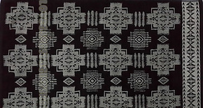 美国大牌pendleton 正品复古印第安民族图腾机织纯棉浴巾沙滩毛毯