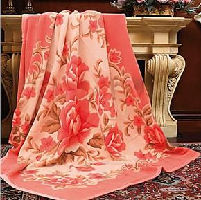 恒源祥正宗上海产 来真德-纯毛机织毛毯国色天香 有实拍图