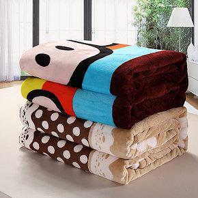 法兰毛毯冬用加厚毯双层法莱绒毯子冬季单人双人双面珊瑚绒毛巾被