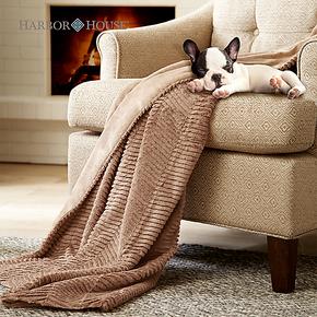 Harbor House 双面绒毯子春秋多功能披毯 超柔亲肤保暖毛毯960012