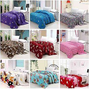 特价新款双面绒加厚包边印花珊瑚绒毯毛毯被套毯子床单空调毯包邮