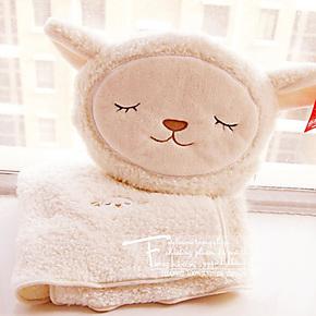 萌外单 小绵羊 抱枕靠垫/空调毯/毛毯/珊瑚绒毯