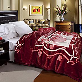 小绵羊家纺 床上用品毛毯 毯子 高级拉舍尔毛毯 四季均用毯 正品