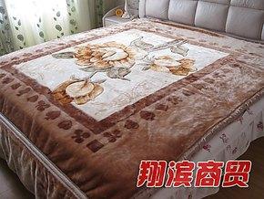 【特价】小绵羊高级拉舍尔毛毯 200*230 七斤重 T3291426 驼色