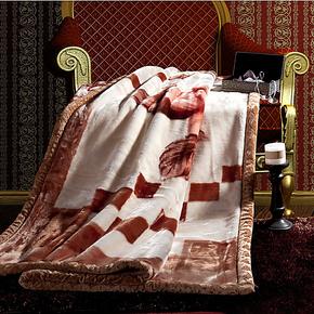 小绵羊家纺 床上用品毛毯 毯子 高级拉舍尔毛毯 四季均用毯 促销