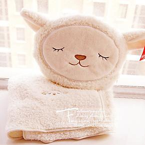 满88元包邮萌系外单 小绵羊 抱枕靠垫/空调毯/毛毯/珊瑚绒毯