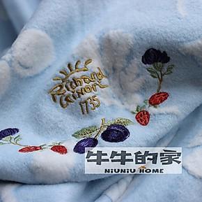 国际大牌外贸出口原单 纯棉提花毛毯夏凉被空调被秋冬盖毯 午睡毯