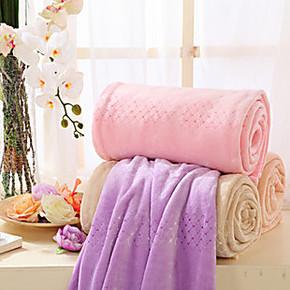 水星家纺床上用品 欧式提花绒毯 珊瑚绒毯子 特价毛毯 包邮
