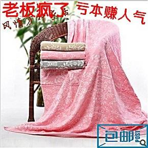 包邮冲钻盖毯!纱布纯棉提花毛巾被单人加厚双层床单午休毛毯