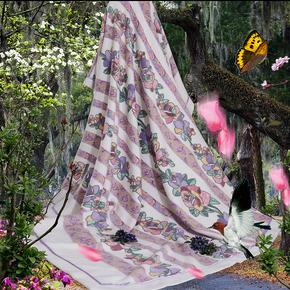 高档竹纤维抗菌盖毯 提花竹绒毯 特价  竹绒毯 毛毯 专柜正品