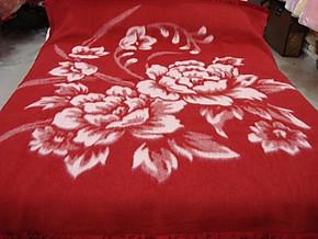 正品上海凤凰100%全羊毛毯全羊毛提花毯全羊毛艺术毯送原厂礼盒