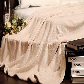 毛绒毯床单 加厚珊瑚绒床单学生毛毯盖毯法兰绒 单人毛毯加厚双面