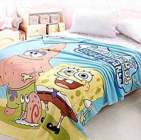 儿童珊瑚绒超柔毯子 卡通保暖贴肤垫毛毯 毛绒单人床 特价包邮