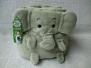 宝洁赠品 碧浪卡通小象毛毯 儿童毛毯 毛绒毯230克
