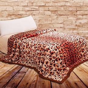 真爱美家 双层拉舍尔毛毯 冬季加厚双人保暖毛绒毯子9斤特价包邮