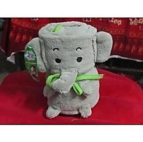 A515宝洁赠品 碧浪赠品 可爱卡通小象毛毯/毛绒毯子/空调毯230克
