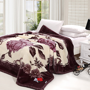 加厚双层冬用拉舍尔毛毯 单双人盖毯绒被子 特价包邮 拍下立减5元