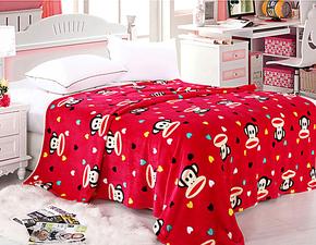 工厂直营包邮特价法兰绒舒棉绒毛毯床单空调毯春秋床单珊瑚绒毯