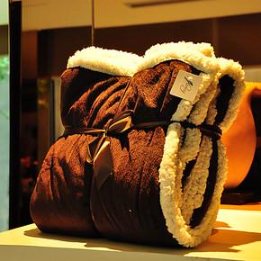 D.家出口哥伦比亚素色舒棉绒毯 羊羔绒毯 毛毯 薄毯 盖毯 空调毯