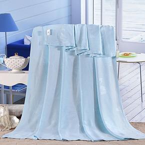 竹纤维毛巾被床品 薄毯单双人空调毯午休毯 毛毯盖毯懒人毯特价
