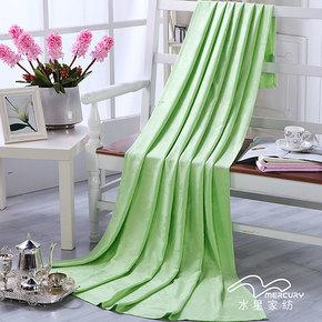 水星家纺  清凉竹纤维盖毯 夏用空调毯/薄毛毯亲肤爽滑 包邮