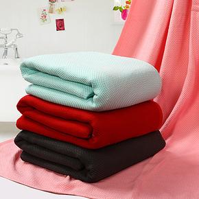 【vip购优汇】加大加厚单\双人竹纤维毛巾被 毛巾毯 盖毯 毛毯子