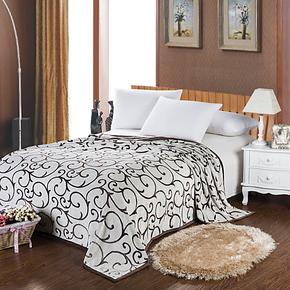 雕花法兰绒毛毯冬季加厚毯欧式珊瑚绒毯床毯床单人双人特价毛巾被