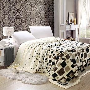 淸仓价 9斤超柔双层欧式奢华拉舍尔毛毯 加厚豹纹 盖毯 特价包邮
