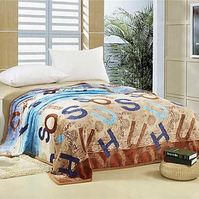 法莱绒毛毯加厚花朵欧式秋冬毯子单人双人包边双面毛毯特价包邮