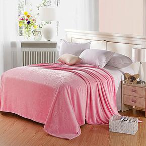 欧式素色剪花法莱绒毯子家居床单加厚法兰绒午睡毛毯多功能空调被