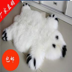 澳洲纯羊毛地毯茶几卧室沙发垫客厅飘窗毯定制包邮欧式羊毛毯熊猫