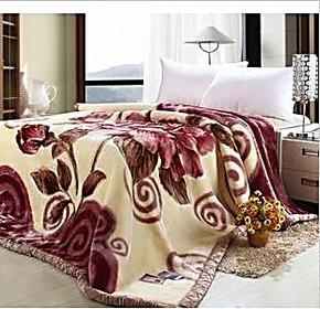 包邮 拉舍尔毛毯 冬用加厚毛毯 床上用品 仿羊绒毛毯 童毯