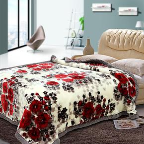 菲依班 加厚双层拉舍尔毛毯 单双人毛毯特价包邮 8斤9斤10斤11斤