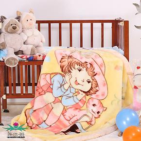 菲依班 超纤双层加厚儿童毯子婴儿毛毯拉舍尔毛毯特价包邮