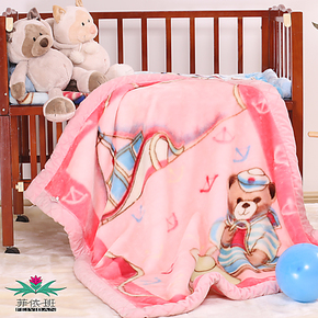 菲依班超纤双层加厚儿童毯子婴儿毛毯拉舍尔毛毯童毯批发特价包邮