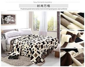 罗莱床品法莱绒毛毯 珊瑚绒毛毯法兰绒毯加厚单人双床单特价包邮