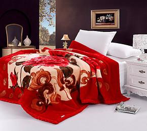 罗莱家纺正品拉舍尔毛毯 罗莱 婚庆加厚拉舍尔毛毯 特价支持团购
