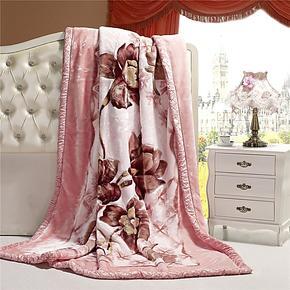 梦洁超柔双层拉舍尔毛毯 法莱绒毛毯 保暖儿童毛毯 单人双人毛毯