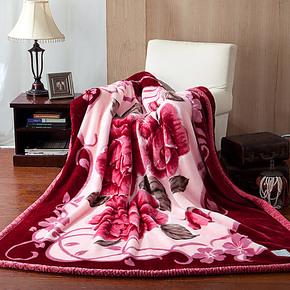 九洲鹿家纺 正品保暖拉舍尔加厚绒毯 双层毛毯 保暖毛毯 特价包邮