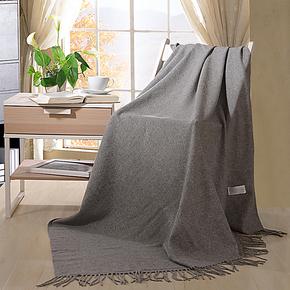 凯盛家纺 亲肤舒适毛毯 单双人毯子 极简主义休闲羊毛毯 新