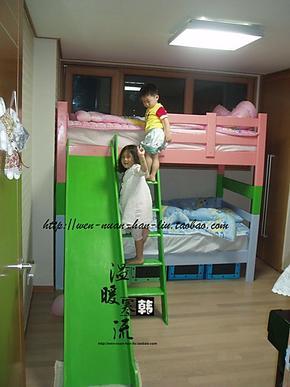 上海实木双层床定制实木高低床定做实木高架床实木子母床带滑梯