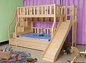 翔宇实木床 双层床 儿童床 上下床 高低床 子母床 梯柜床 带滑梯