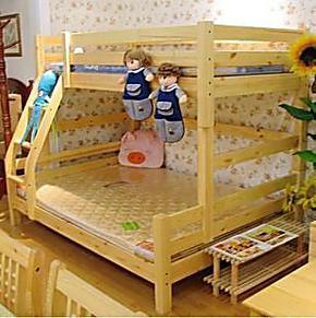 【宜家优雅家居】实木儿童床 双层床 上下铺高低床 松木子母床